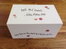 Shabby Personalised Chic Keepsafe Wedding Bride Groom Any Names Gift Memory Box
